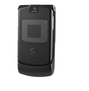Motorola V3 Teléfono Plegable Móvil Máquina Renovada Negro