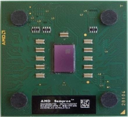 Processador Amd 462 Sempron 2800+ Verde Ou Marrom