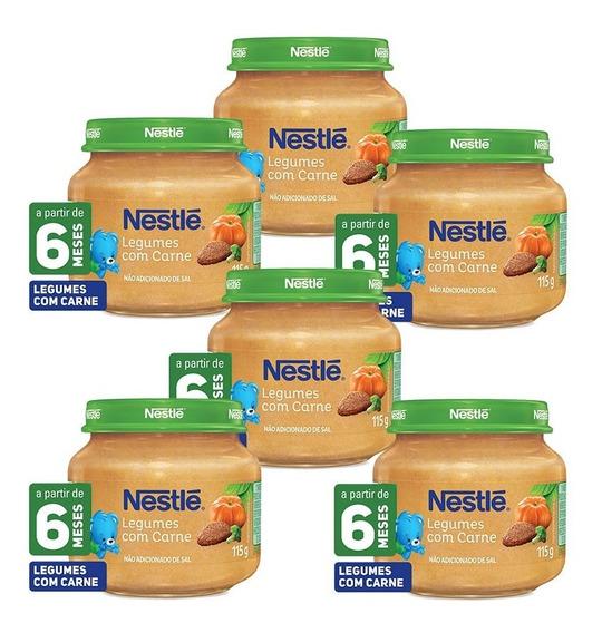 Kit Papinha Nestlé Carne Com Legumes 115g Com 6 Unidades