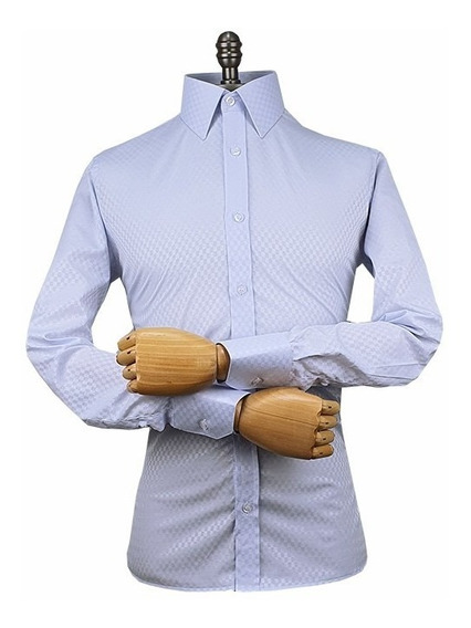 Camisa Punho Simples Gola Italiana (ref- B 545)