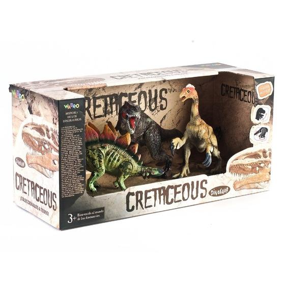 Dinosaurios Sorpresa Cretaceous Set X 3 Medianos