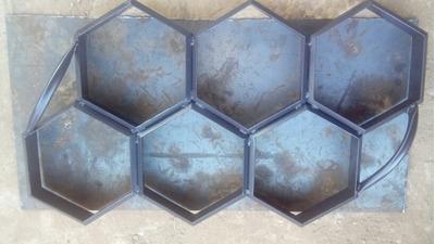 Forma De Aço Para Fazer Bloquetes De Cimento 25x8, 6 Peças