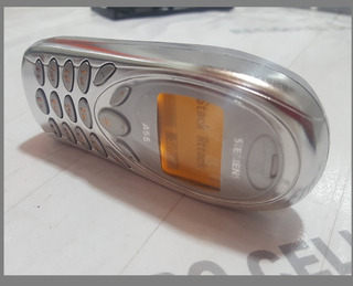 Celular Siemens A55 De Chip ( 2003 ) Lindo Prata
