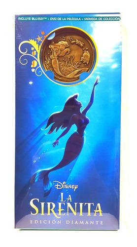 Disney La Sirenita  Bluray Dvd Y Moneda De Coleccion Nuevo