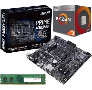 Combo Board Asus A320 Ryzen 3 2200g Radeon Vega Ram 8gb Pc