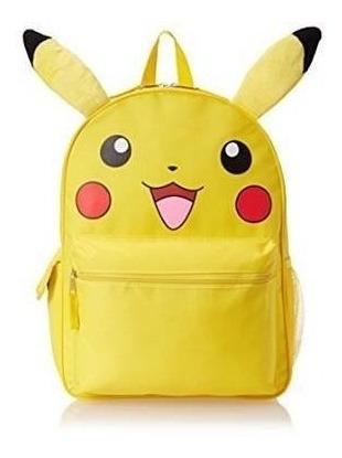 Mochila Importada Pokémon - Diseño De Pikachu
