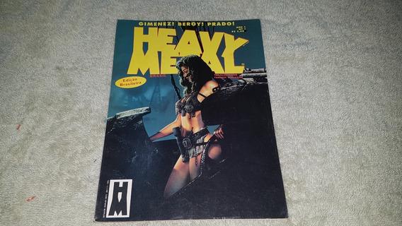 Hq Heavy Metal Nº 1 - Ed. Brasileira - 1995 - Formato Álbum