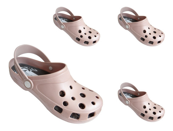 Crocs Nude Mirabella Kit 20 Pares Adulto Revenda Barato