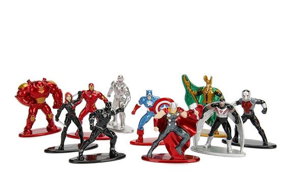 Nano Metalfigs / Set / Marvel / 10 Figuras