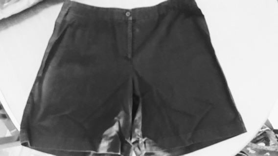Bermuda Short Mujer Talle 46 Normandie Negra Algodon