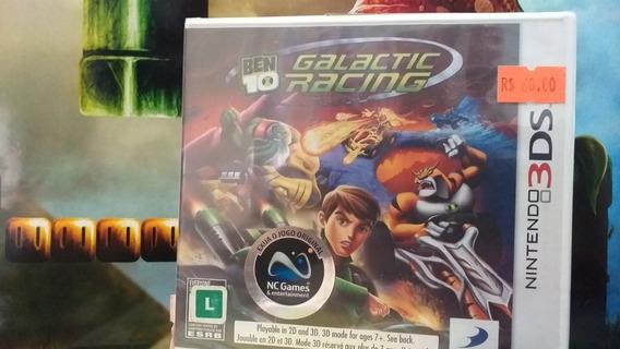 Ben 10 Galactic Racing 3ds 2ds Mídia Física Novo Lacrado
