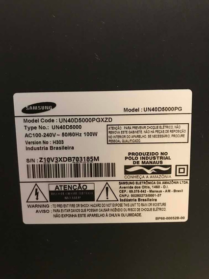 Tv Samsung 40 Polegadas. Com Uma Caixa De Som Estourada