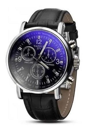 Relógio Masculino De Pulso - Preto E Prata