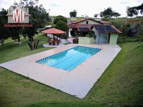 Imagem 1 de 30 de Chácara Com Escritura, 04 Dormitórios À Venda, 8000 M² Por R$ 600.000 - Rural - Socorro/sp - Ch0381