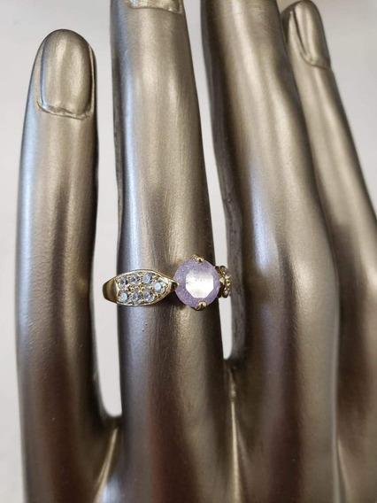 Anillo Con Piedra Violeta