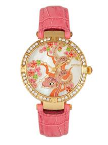 758d48e53ed4 Reloj Pulsera Bertha Mia Dial De Nácar malla D cuero Rosa