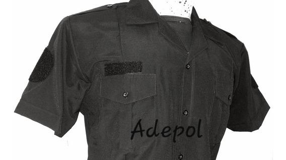 Camisa Manga Corta Policía Pfa Con Velcro Abrojo