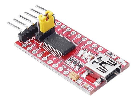 Ft232rl Ftdi Mód Adapt Conv Serial Us B P/ Ttl Para Arduíno