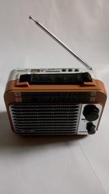 Rádio Am Fm Sw Portátil Mp3 Usb