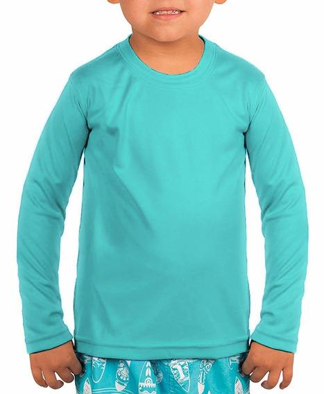 Camisa Térmica Infantil Compressão Segunda Pele Longa Uv 50+