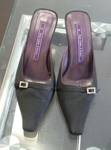 Zapatos Mule Negros Paula Nª36