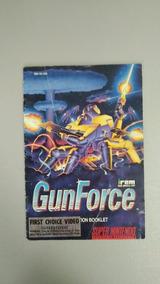 Manual Gunforce Snes Original