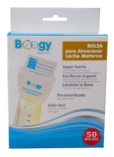Bolsas Para Leche Materna Boogy Premium Preesterilizadas X50
