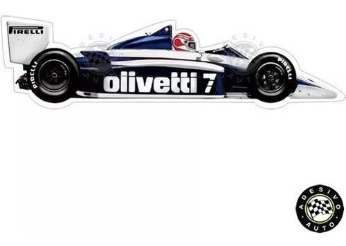 Adesivo Nelson Piquet Brabham Bt54 Olivetti Formula 1 Carros