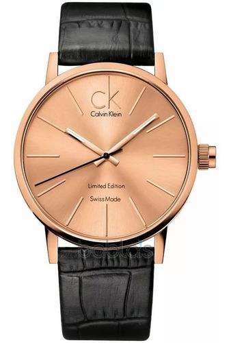 Relógio Social Masculino Couro Calvin Klein K7621201 Limited