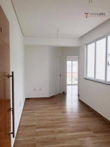 Cobertura Com 2 Dormitórios À Venda, 106 M² Por R$ 450.000,00 - Jardim - Santo André/sp - Co1142