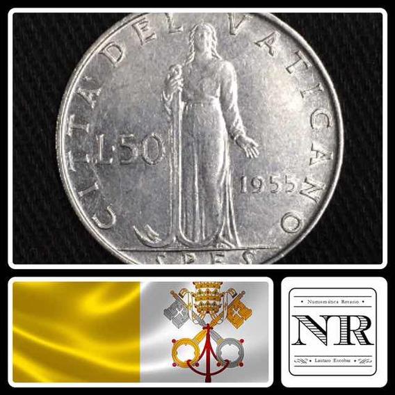 Vaticano - 50 Liras - Año 1955 - Papa Pio Xii - Km# 54.1