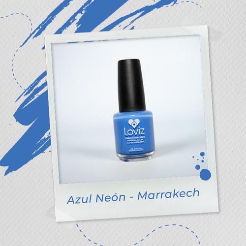 Azul Neón - Marrakech   Esmalte De Larga Duración De 15ml