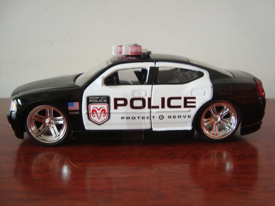 Dodge Charger Police Na Escala 1/32 Da Bigtime Muscle Jada