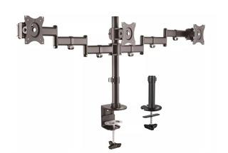 Soporte Triple Monitor Klipx 13 27 Base Kpm-320