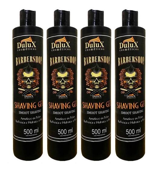 4 Shaving Gel De Barbear 500g Dulux
