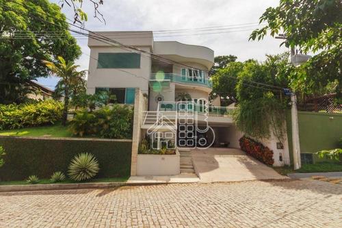Casa Com 4 Dormitórios À Venda, 360 M² Por R$ 1.950.000,00 - Badu - Niterói/rj - Ca1010