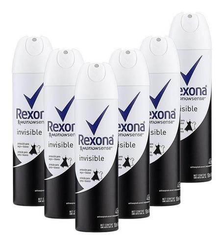 Kit 6 Desodorantes Rexona Motionsense Invisible 150ml