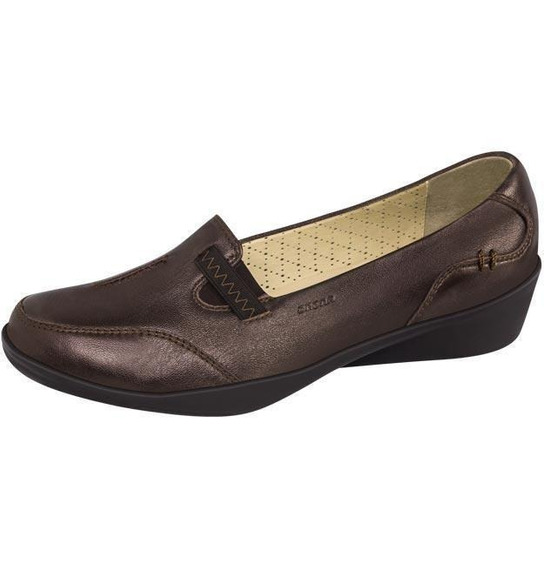 Mocasin Mujer Marca Onena Mod 1144 Bronce
