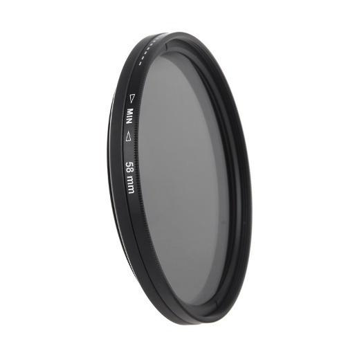 Filtro Nd 2-400 Variável Lente 58mm 58 Mm Canon Nikon Sony