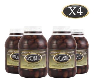 Aceitunas Negras Yancanelo Bidón 1 Kg X 4 U