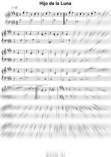 Partitura - Mecano - Hijo De La Luna - Para Piano