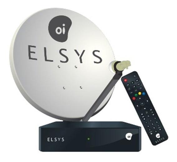 Kit Elsys Oi Tv Livre Hd + Antena 60cm + 17m Cabos - Leia.