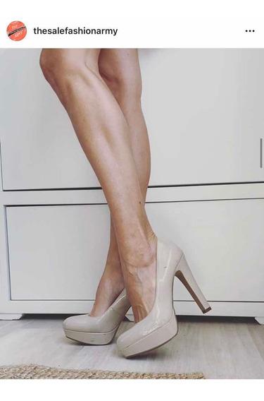 Guess Stilettos Con Plataformas Nude Talle 40 Charol