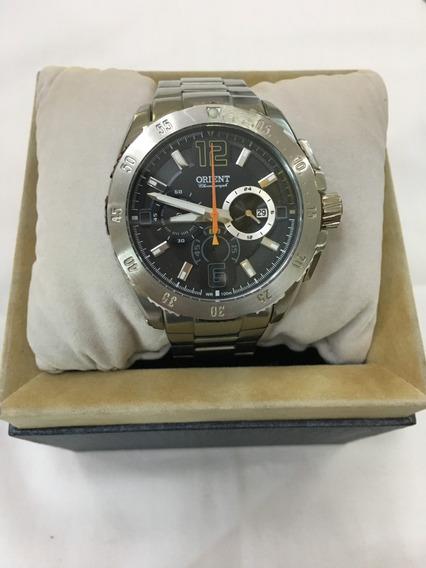 Relógio De Pulso Orient 075 Prata Masculino 10atm Original