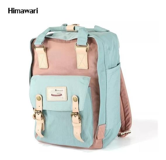 Mochila Bolso Himawari Retro Porta Notebook Envio Full