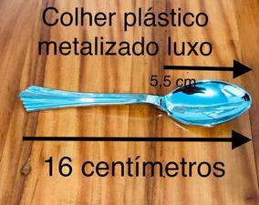 100 Colher Luxo Grande 16 Centímetros + 50 Colher 11 Cm