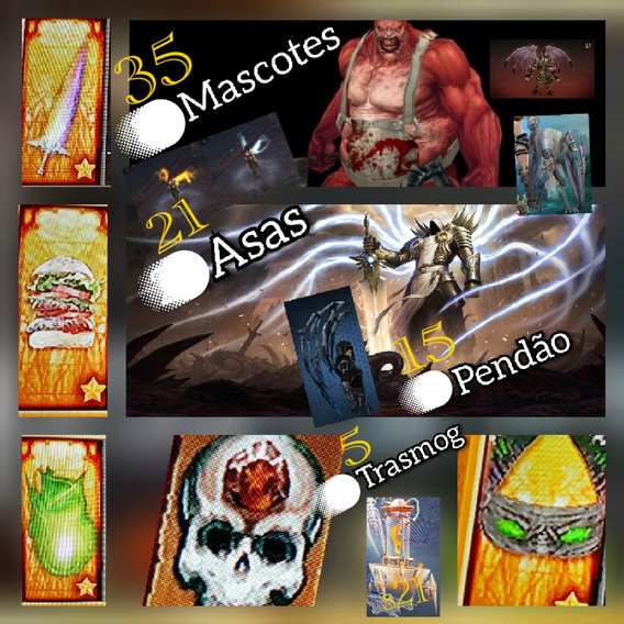 Diablo 3 Ps4 Path Com 70 Itens Cosméticos