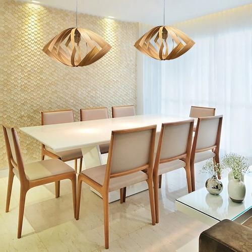 Luminaria De Teto Madeira Cozinha Sala Jantar Girassol 50 Cm | Mercado Livre