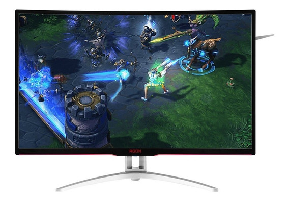 Monitor Gamer Aoc Agon 32 Tela Curva Led Full Hd Ag322fcx/75
