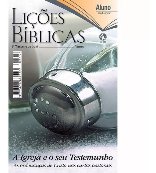 Lições Bíblicas Antigas Adultos Alunos Ebd Cpad